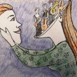 Tegnet av kunstner Ekaterina Saratovskaya
