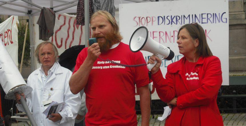 Demonstrasjon utenfor stortinget i  28. august 2009