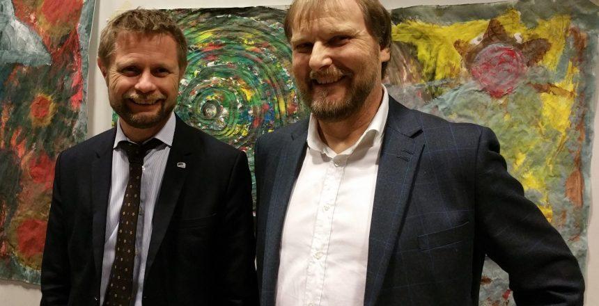 Helseminister bent Høie og Jan-Magne Tordenhjerte Sørensen